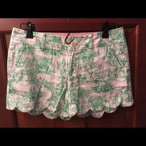 Lilly Pulitzer buttercup shorts- party toile-sz 0